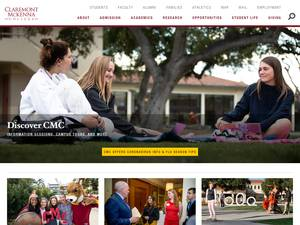 Claremont McKenna College's Website Screenshot