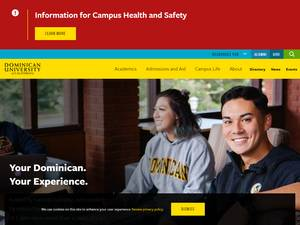 Dominican University of California's Website Screenshot