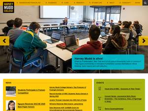 Harvey Mudd College's Website Screenshot