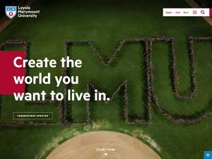 Loyola Marymount University's Website Screenshot