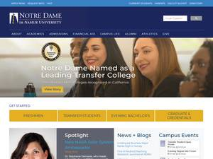 Notre Dame de Namur University Screenshot