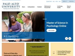 Palo Alto University's Website Screenshot