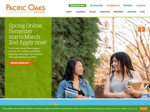 Pacific Oaks College's Website Screenshot