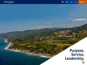 Pepperdine University's Website Screenshot