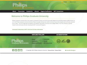 Phillips Graduate University Screenshot