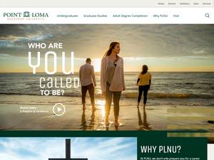 Point Loma Nazarene University's Website Screenshot