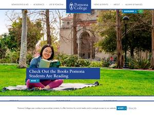 Pomona College's Website Screenshot