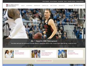 San Diego State University's Website Screenshot