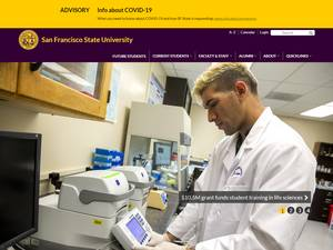 San Francisco State University's Website Screenshot