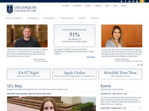 San Joaquin College of Law Screenshot