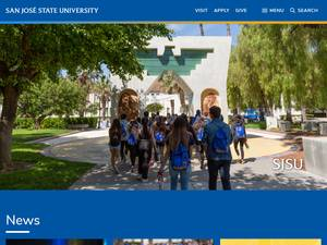 San José State University Screenshot