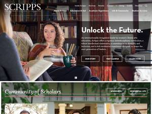 Scripps College's Website Screenshot