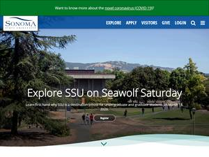 Sonoma State University's Website Screenshot