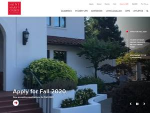 Saint Mary's College of California's Website Screenshot