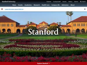 Stanford University Screenshot