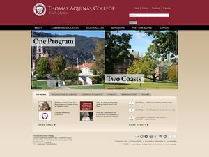 Thomas Aquinas College's Website Screenshot