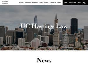 University of California, Hastings College of the Law Screenshot