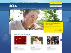 University of California, Los Angeles's Website Screenshot