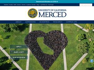University of California, Merced's Website Screenshot