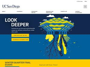University of California, San Diego's Website Screenshot