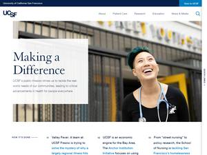 University of California, San Francisco's Website Screenshot