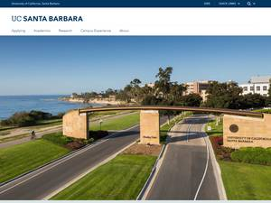 University of California, Santa Barbara Screenshot