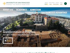 University of San Francisco's Website Screenshot