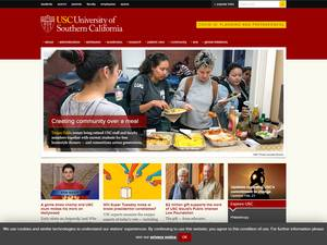 University of Southern California's Website Screenshot