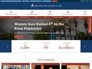 Western State College of Law at Argosy University's Website Screenshot
