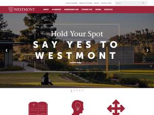 Westmont College's Website Screenshot