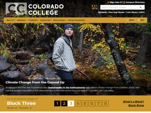 Colorado College's Website Screenshot