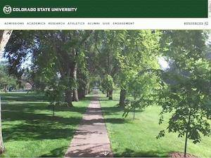 Colorado State University's Website Screenshot
