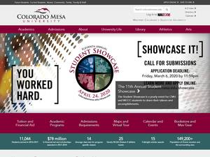 Colorado Mesa University's Website Screenshot