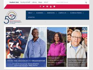 Metropolitan State University of Denver's Website Screenshot