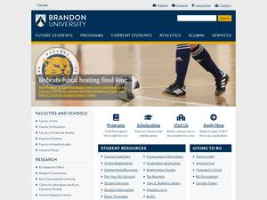 Brandon University's Website Screenshot