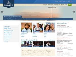 Nazarene Bible College's Website Screenshot