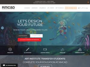 Rocky Mountain College of Art and Design's Website Screenshot