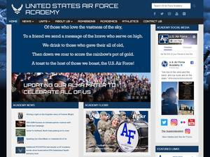 United States Air Force Academy's Website Screenshot