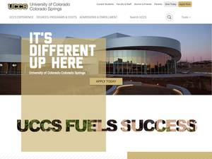 University of Colorado Colorado Springs's Website Screenshot