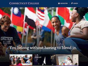Connecticut College's Website Screenshot