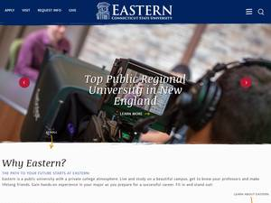 Eastern Connecticut State University's Website Screenshot