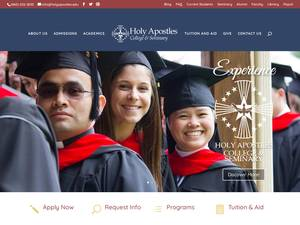 Holy Apostles College and Seminary's Website Screenshot