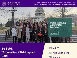 University of Bridgeport's Website Screenshot