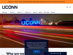 University of Connecticut's Website Screenshot