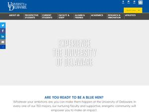 University of Delaware Screenshot