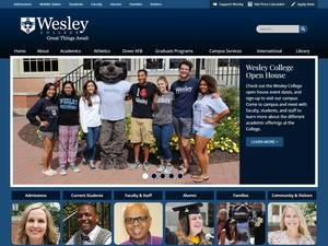 Wesley College's Website Screenshot