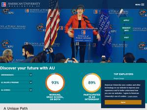 American University's Website Screenshot