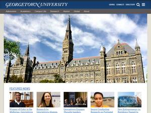 Georgetown University's Website Screenshot