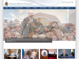 National Defense University's Website Screenshot