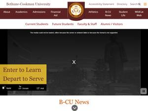 Bethune-Cookman University's Website Screenshot